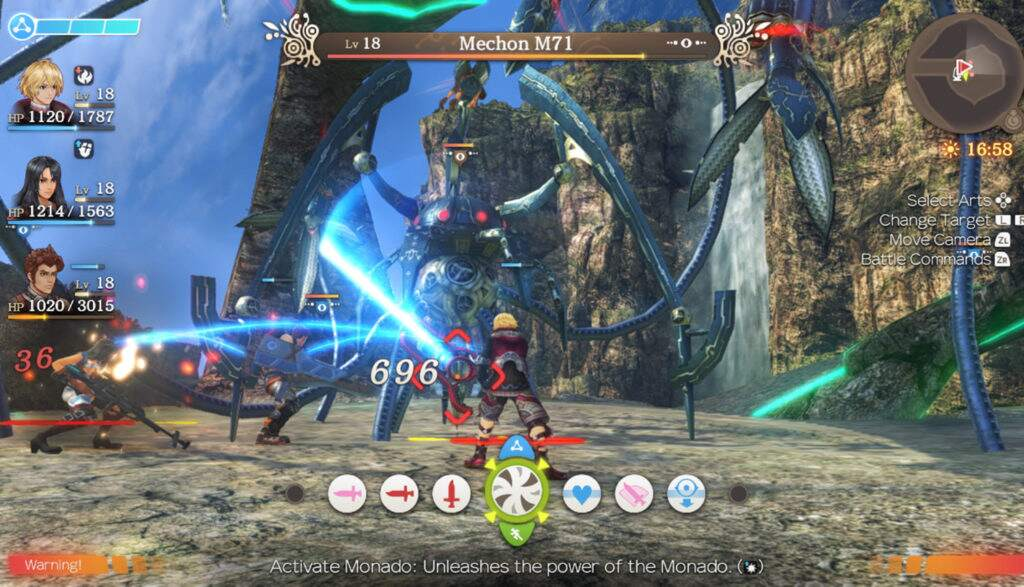 Xenoblade Chronicles: Definitive Edition Gameplay